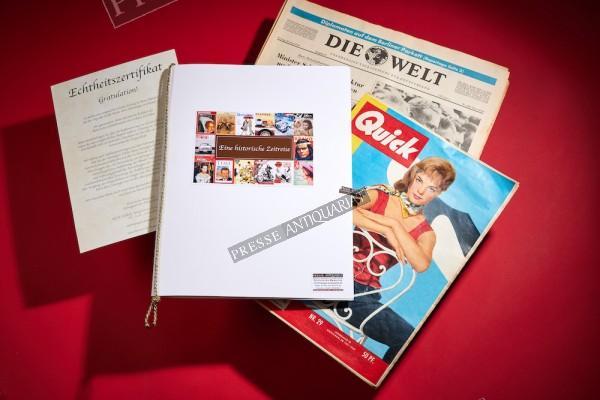 Geschenkmappe DIN A4 Presse-Antiquariat & Echtheitszertifikat