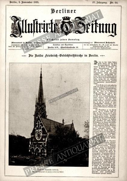 Berliner Illustrirte Zeitung, 03.11.1895 bis 09.11.1895