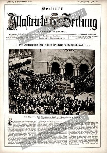 Berliner Illustrirte Zeitung, 08.09.1895 bis 14.09.1895