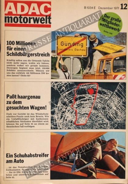 ADAC Motorwelt, 01.12.1971 bis 31.12.1971