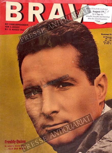 BRAVO Jugendzeitschrift, 06.08.1961 bis 12.08.1961