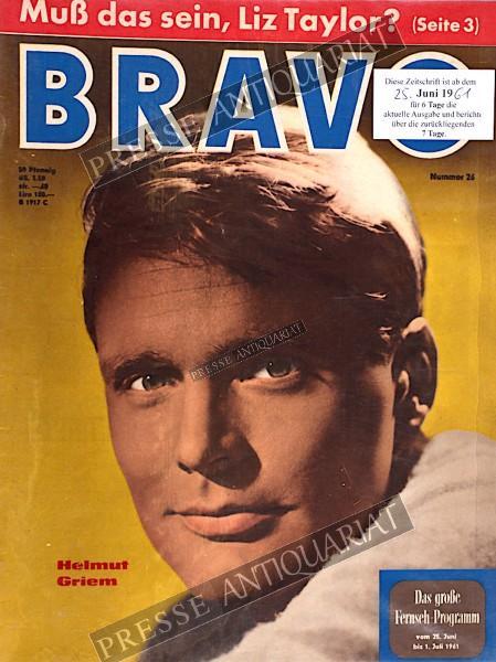 BRAVO Jugendzeitschrift, 25.06.1961 bis 01.07.1961