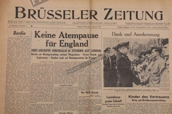 Brüsseler Zeitung, 07.01.1941