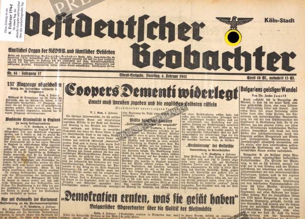 Westdeutscher Beobachter, 04.02.1941