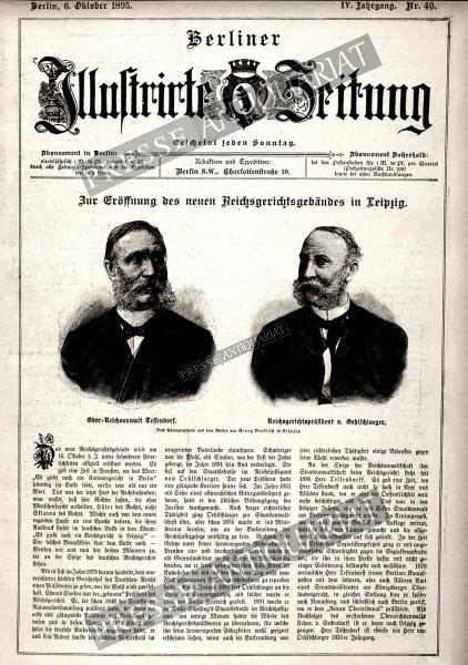 Berliner Illustrirte Zeitung, 06.10.1895 bis 12.10.1895