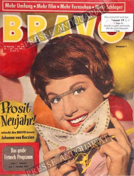 BRAVO Jugendzeitschrift, 01.01.1961 bis 07.01.1961