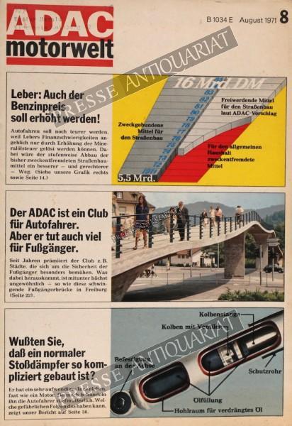 ADAC Motorwelt, 01.08.1971 bis 31.08.1971