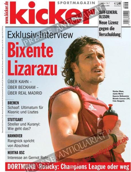 Kicker Sportmagazin Nr. 7, 15.01.2004 bis 21.01.2004